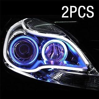 WarmCare 2Pcs 23 Inches LED Strip Tube Light Car Flexible Daytime Running Lights DRL Switchback Headlight Decorative Lamp ...