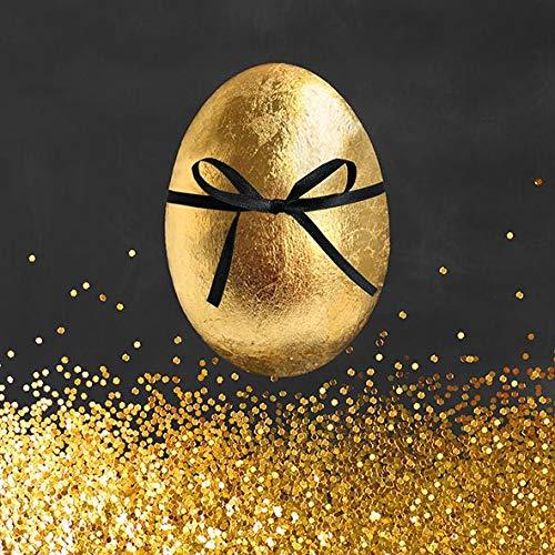 AvanCarte Ostern Frühjahr Servietten Tischdeko Goldenes Ei 20 St 3-lagig 33x33cm