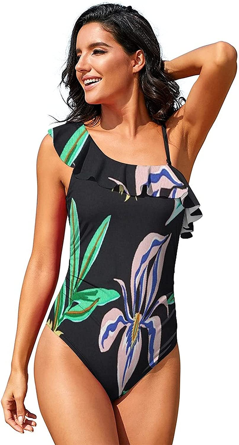 LINYANDIKAI Flowers shipfree and Leaves Max 53% OFF Womens Piece One Trainin Swimsuit