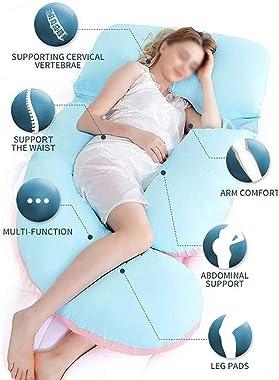 ZHUANYIYI Body Pillow,Maternity Pregnancy Pillow Full Body Sleep Support Pillow U-Shape Full Body Back Bolster Support Remova