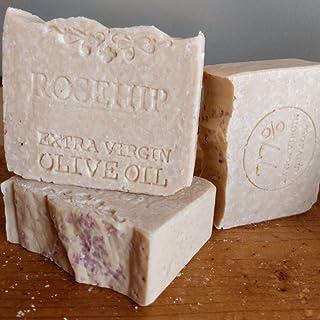 Brazilian Artisan Rosehip Soap - All Natural Soap Handmade Unscented, Vegan Soap with Mediterranean Sea Salt