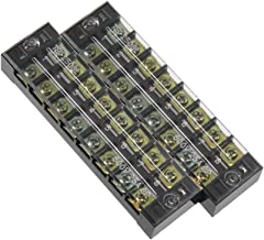 uxcell 2 Pcs Dual Rows 8 Positions 600V 25A Cable Barrier Block Terminal Strip TB-2508L