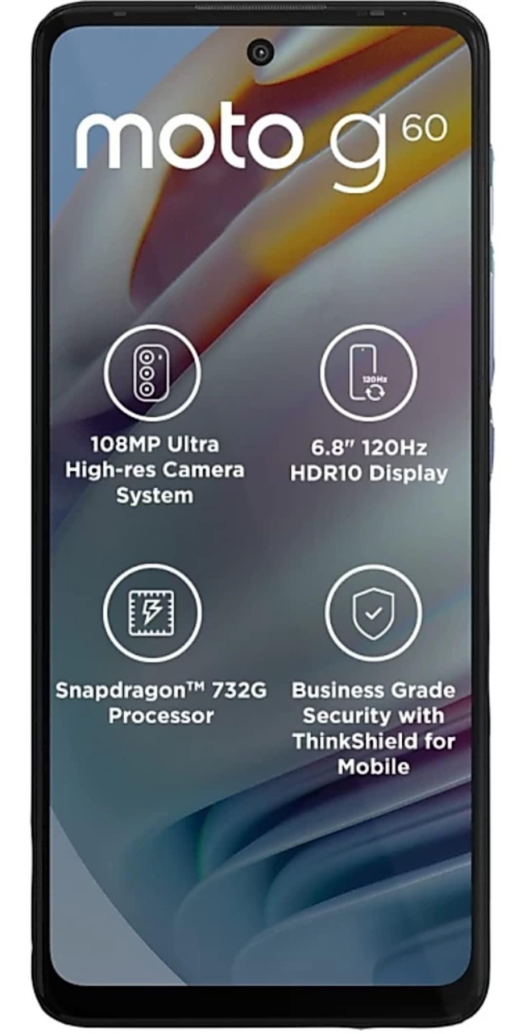 MOTOROLA G60 (Dynamic Gray, 6GB RAM, 128GB Storage)