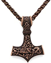 GuoShuang Odin Thor's Mjolnir Pendant Viking Necklaces Pendants Jewelry Scandinavian Clear Details Silver Chain