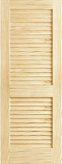 Plantation Louvered Unfinished Solid Core Pine Interior Slab (80x18)