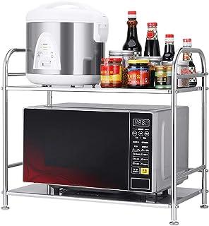Usmascot estante de horno para microondas estante de cocina de acero inoxidable estante de almacenamiento de cocina 2 -...