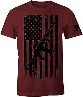 USA American Flag Rifle 2nd Amendment Patriotic Men's T Shirt