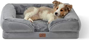 Bedsure Orthopedic Dog Bed for Medium Dogs - Waterproof Dog Bed Medium, Foam Sofa with Removable Washable Cover, Waterproof Lining and Nonskid Bottom Couch, Pet Bed