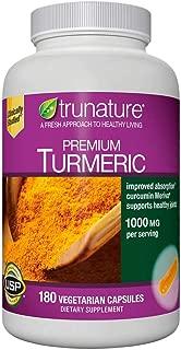 trunature® Premium Turmeric 1000 mg, 180 Vegetarian Capsules