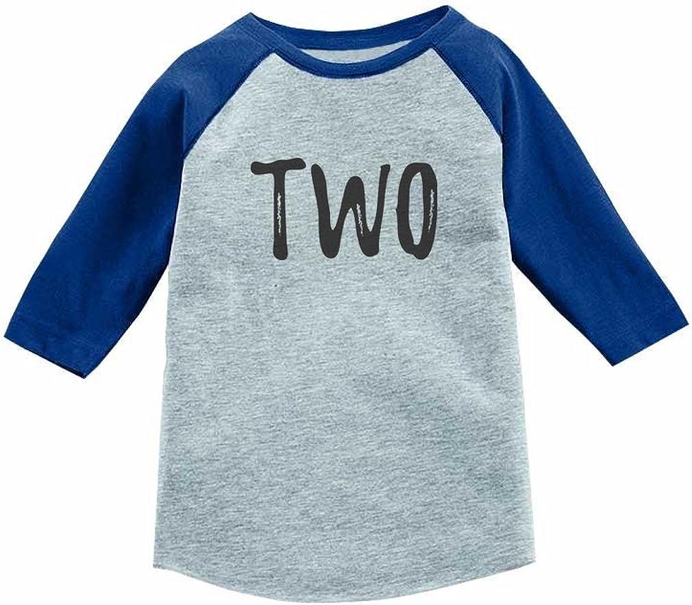 Tstars 2nd Birthday Gift for 2 Year Old Child 3/4 Sleeve Baseball Jersey Toddler Shirt