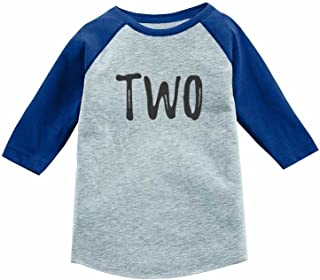 2nd Birthday Gift for 2 Year Old Child 3/4 Sleeve Baseball Jersey Toddler Shirt