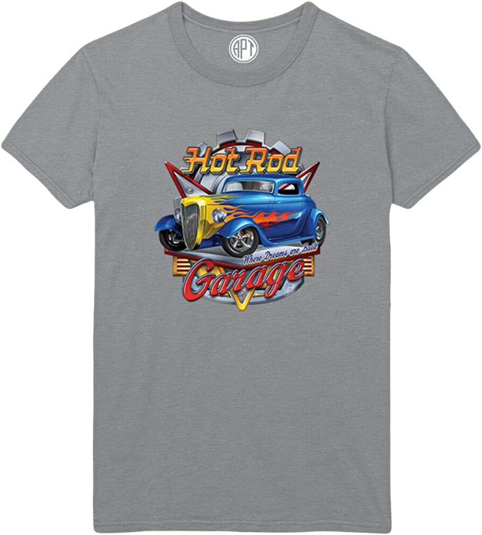 Hot Rod Garage Where Dreams are Build Printed T-Shirt