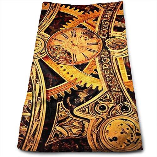Engranajes Steampunk Frescos, toalla de mano, toalla de viaje, toalla de baño, 11.8 x 27.6 pulgadas, multiusos para baño, mano, cara, gimnasio y spa
