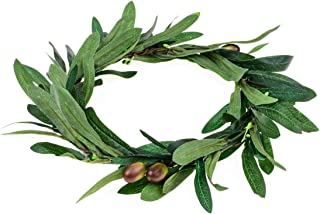 Floral Fall Artificial Olive Leaf Greece Flower Halo Bridal Headpiece Greenery Crown HC-32