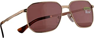 Persol 2461-S Morris Sunglasses Gold w/Polarized Wine Lens 58mm 1076AK PO 2461S PO2461S PO2461-S