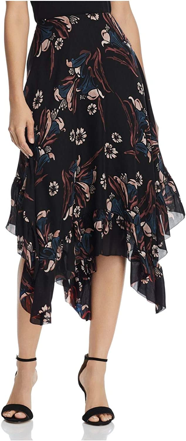 Joie Caviar Fernleigh Printed Special price for a limited time Mail order Midi US Layered 6 Skirt Silk