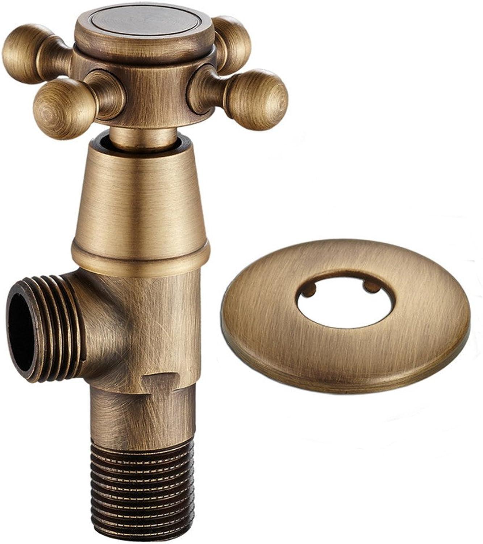 Bijjaladeva Antique Bathroom Sink Vessel Faucet Basin Mixer Tap All copper classical example of triangular valve valve universal 4-interface outdoor Faucet