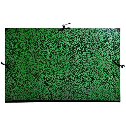 Exacompta 533200E Zeichenmappe Annonay, mit Verschlußbandmit, DIN A1, 67 x 94 cm, 1 Stück, grün