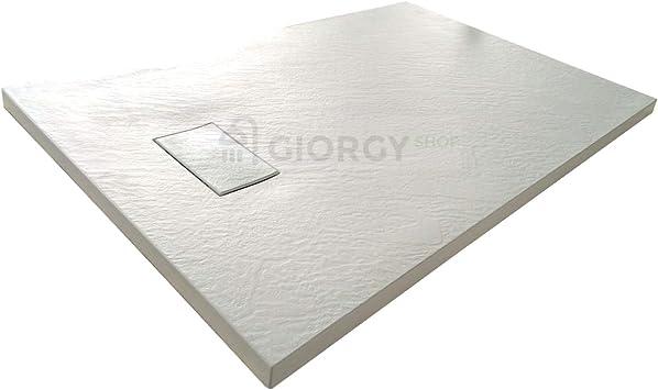 Piatto Doccia 80x120 Bianco H 2 6 Cm Effetto Pietra Ardesia Smc In Resina Termoformata Amazon It Fai Da Te