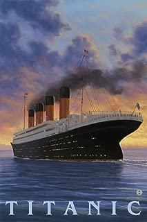 Titanic - White Star Line (9x12 Art Print, Wall Decor Travel Poster)