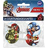 Wilton 2113-4110 Marvel Avengers Fun Pix Cupcake-Dekoration, mehrfarbig