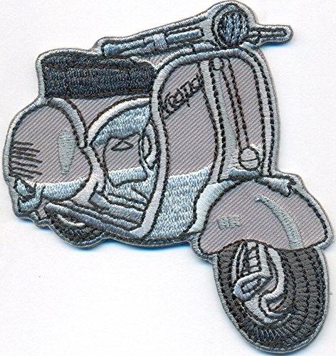 Vespa Roller Vintage Retro Italy Motorrad Piaggio Motorcycle Biker Patch Aufnäher