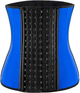ECOWALSON Waist Trainer for Women Corset Cinher Body Shaper with Steel Bones and Extender