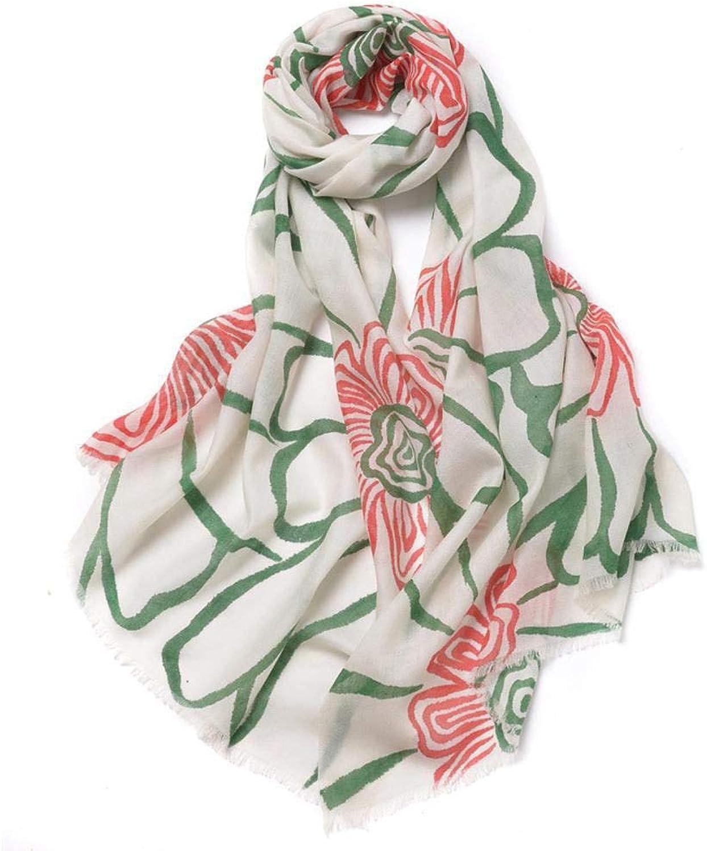 Gquan Fashion Scarf, Fashion Print Shawl Warm Thicken Modern Style Ladies Print Scarf Shawl
