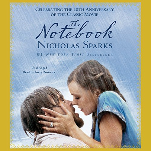 The Notebook                   By:                                                                                                                                 Nicholas Sparks                               Narrated by:                                                                                                                                 Barry Bostwick                      Length: 6 hrs and 3 mins     2,026 ratings     Overall 4.3