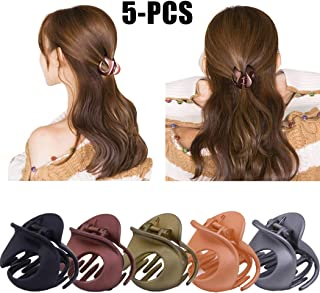 Jaw Clips, Fascigirl 5Pcs Hair Clamps Vintage Simple Irregular Non Slip Hair Accessories Claw Clips for Women Cooking Working Use