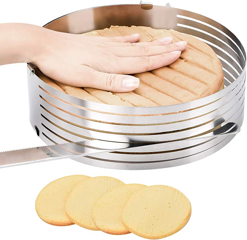 Layer Cake Leveler Slicer Adjustable Cake Rings 7 Layer Cake Cutter Stainless Steel Cake Slicing Accessories 9 8 12 2 Inch