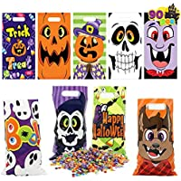 90-Piece Joyin Halloween Plastic Goodie Bags with 9 Character Designs, Halloween Candy Cookie Bags for Trick-or-Treating, Halloween Party Favors