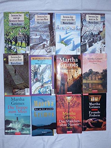 4 Bücher von Martha Grimes: Was am See geschah. Inspektor Jury besucht alte Damen. Die Frau im Pelzmantel. Die Treppe zum Meer.