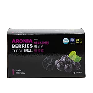 Korean Aronia Berry Tea [ Korean Foods ] Chokeberry Concentrate Sticks, Low Calorie Superfood, Enjoy Anytime Anywhere [ JRND Foods ] 20 Packets