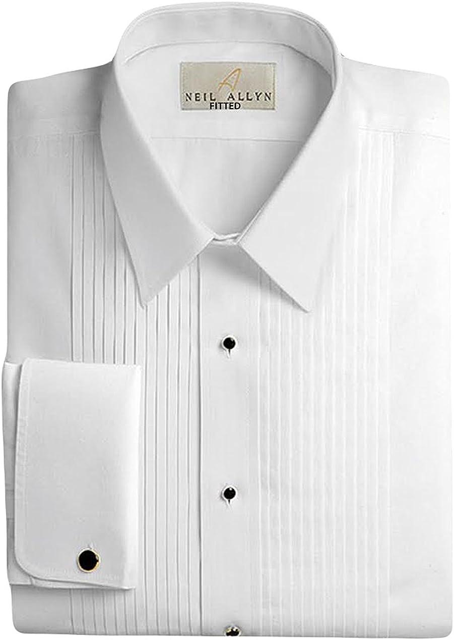 Neil low-pricing Allyn Men's 100% Cotton Tuxedo 17.5 Fit 35 34 Austin Mall Slim Shirt