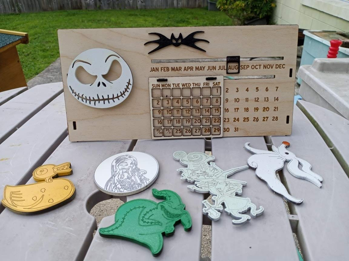 free Nightmare Before Christmas Inspired Perpetual in Max 45% OFF Calendar 6 with