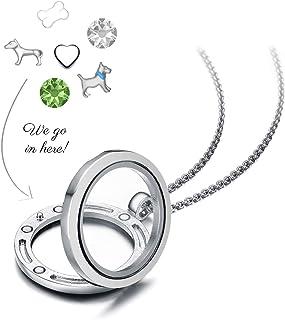 Mestige Jewellery I Love Dogs Floating Charm Necklace with Swarovski® Crystals