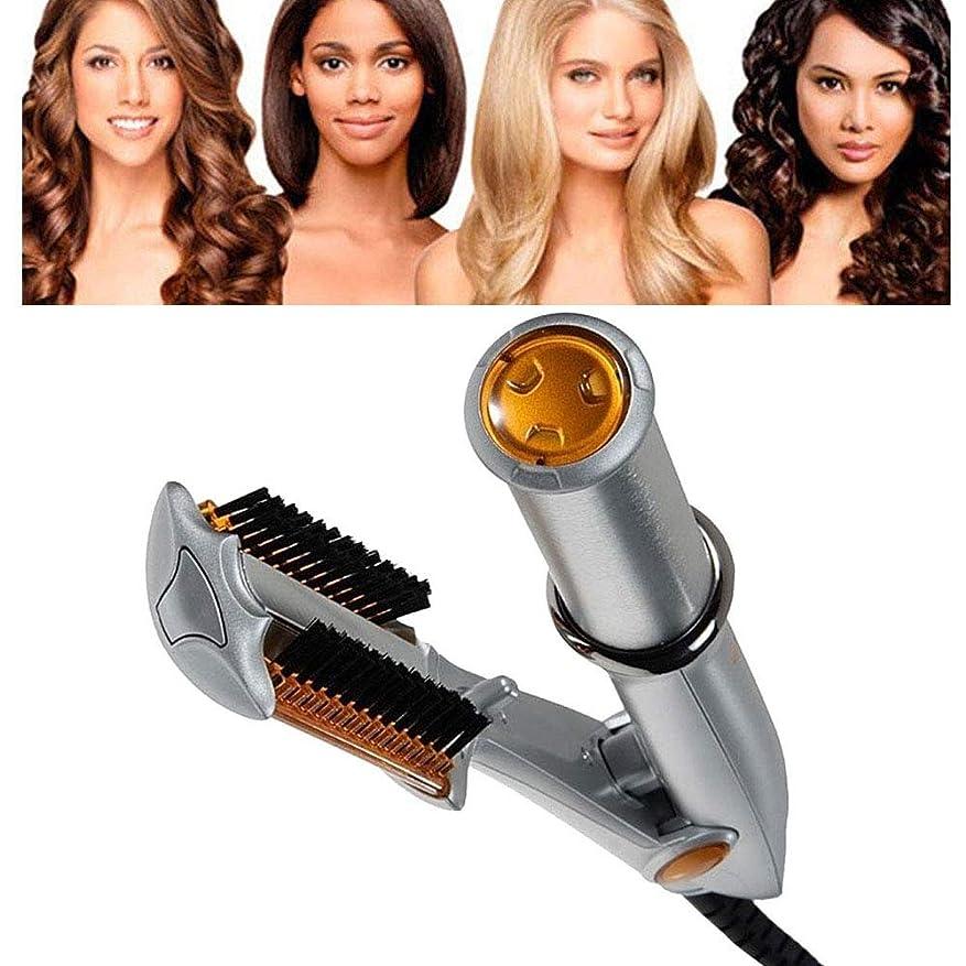 肌鏡西2 1回転鉄ストレートナー、32 mmセラミックコーティングストレートヘアアイロンカーリングトングストレートコームストレートヘアスタイルのすべてのタイプに適して