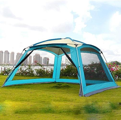 XNNSH 0 à l'extérieur sans Insectes avec InsTailletion Rapide et Facile Grande Maison avec moustiquaire de Toit, Assez Grande pour accueillir Une Table Pliante et 6 chaises avec
