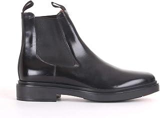 Luxury Fashion   Santoni Men MGWB10027NERIOLCN01 Black Leather Ankle Boots   Season Outlet