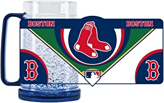 Duck House 1 Pc, Boston Red Sox Mug Crystal Freezer Style, 16oz, Eye Catching Crystals, State-Of-The-Art Refreezability With Color Coordinated Handle & Base