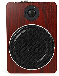 "$74 » Under-seat 8"" Car Subwoofer Speaker Wooden Active Stereo Bass Audio Powered Amp 12V 600W"