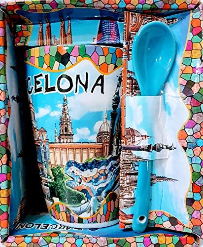 MR Kaffeebecher groß mit Motiv von Gaudi Farbe Blau - Barcelona