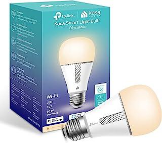 Kasa Smart Bulb by TP-Link, WiFi Smart Switch, E27, 10W, geen hub vereist, werkt met Amazon Alexa (Echo en Echo Dot) en Go...