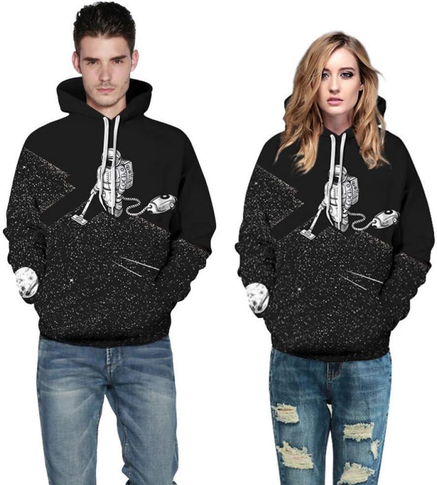 LUO Sweatshirts Hommes/Femmes Imprimés 3D Sweats Astronaut Aspirateur Mince Hoodies à Capuche Hoodies Tops,L ** L