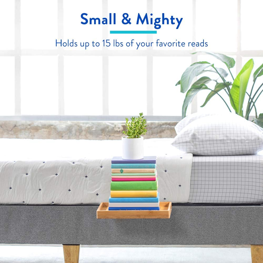 BedShelfie The Original Bedside Shelf Plus Size, Natural AS SEEN ON Business Insider 9 Colors // 4 Sizes