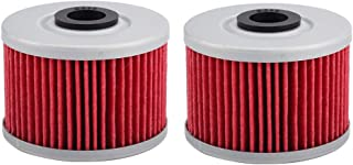 AloneGoer 2pcs CB300F Oil Filter Compatible with 112 HF112 Honda CBR250R CBR300R CRF250L GB500 NX650 XR250R XR400R XR600R ...