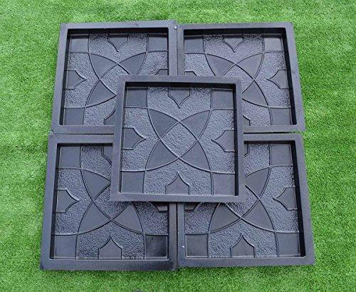 Betonex 5pcs PLASTIK MOLDS Casting Concrete Paving Garden Paths Pavement Stone Patio#S30