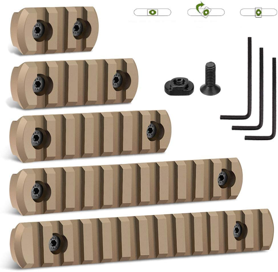GROLENT Picatinny Rail Accessory Set Compatible with Mlok System