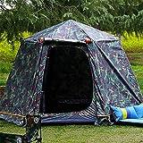 MIRAGE Tienda de campaña para 4 personas de camuflaje militar resistente al viento ultraligero para acampar de doble capa de velocidad abierta automática al aire libre (color: Junglecamouflage)